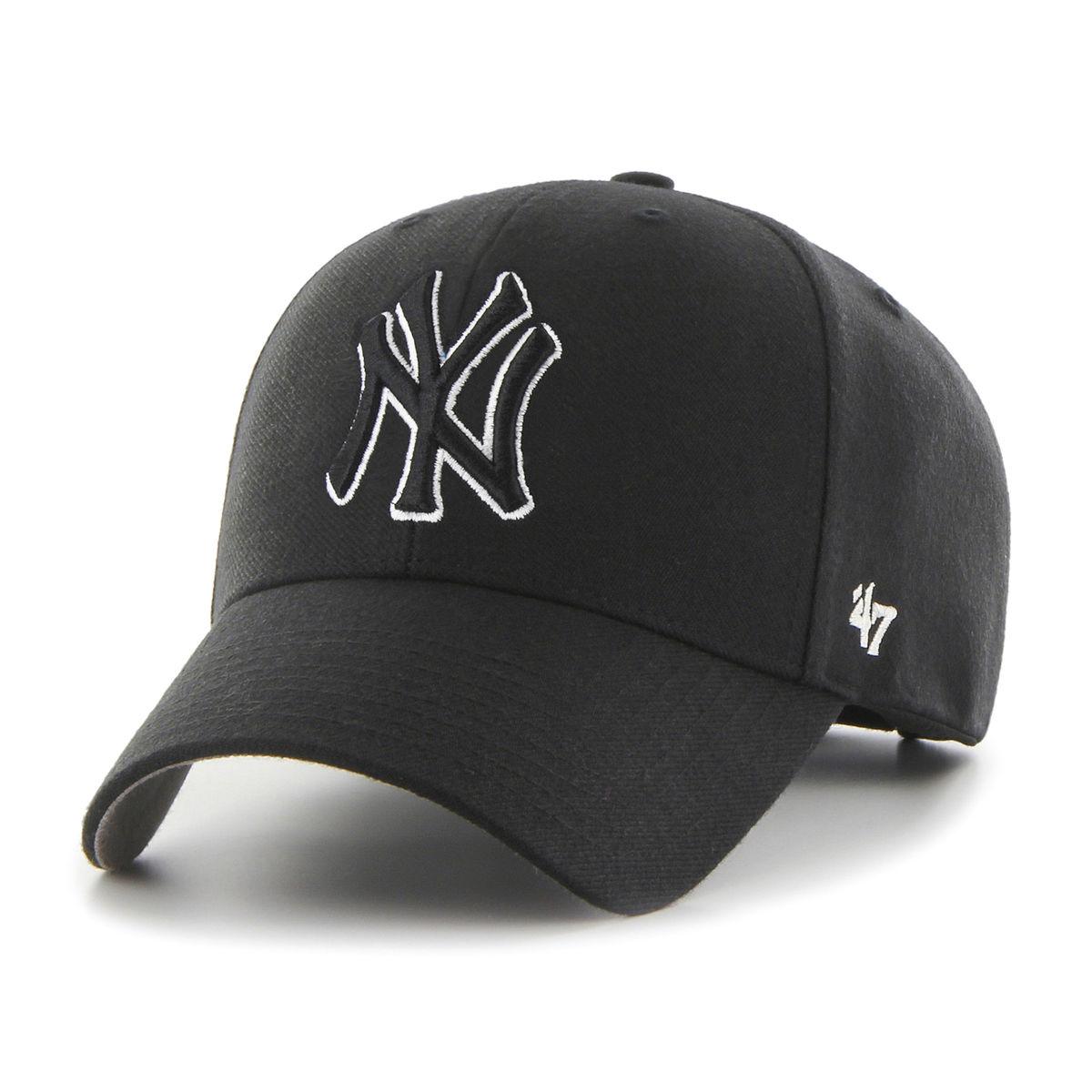 47 BRAND CZAPKA NEW YORK YANKEES MVP CZARNA (B-MVPSP17WBP-BKC)