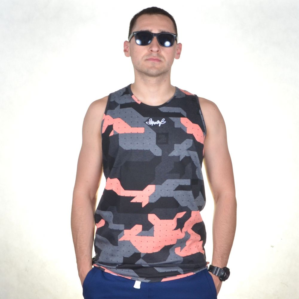 STOPROCENT TANK TOP TMT CAMO CORAL
