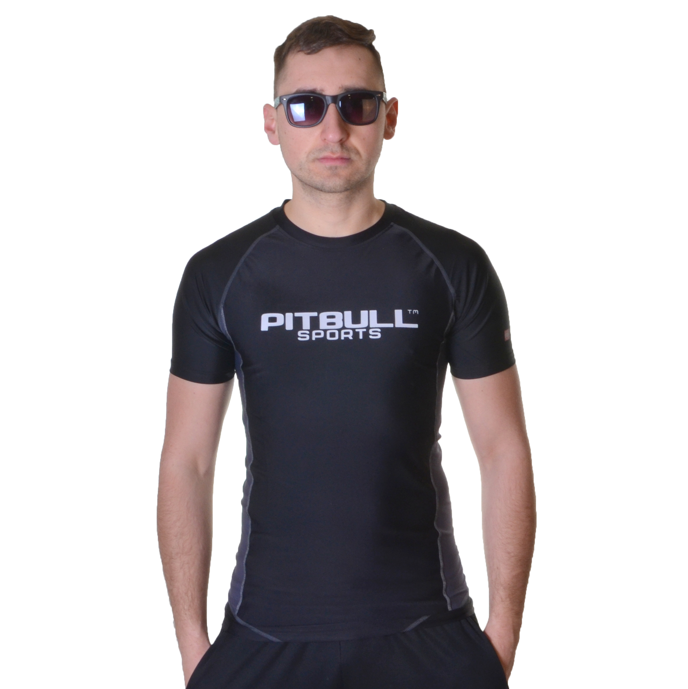 PIT BULL WEST COAST RASHGUARD COMPRESSION PRO PLUS CZARNY