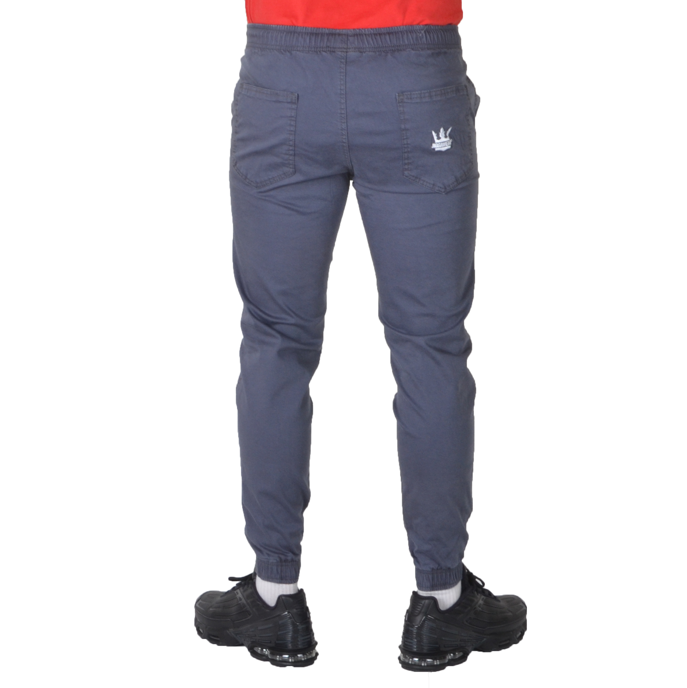 JIGGA WEAR SPODNIE JOGGER CHINO CROWN SZARE