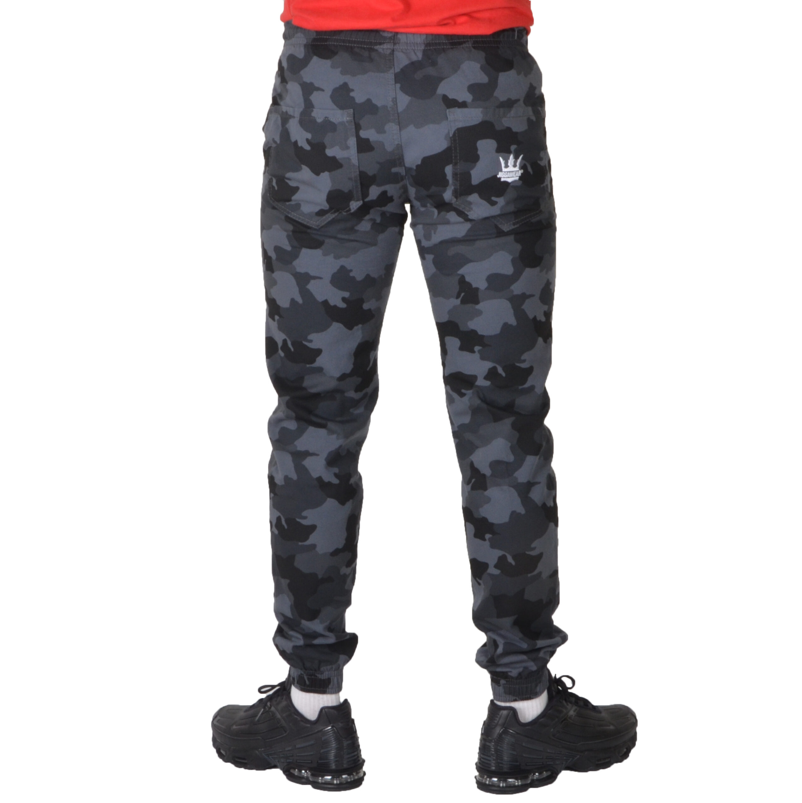JIGGA WEAR SPODNIE JOGGER CHINO CROWN CAMO GREY