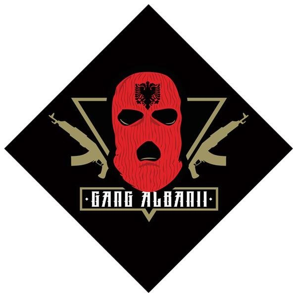 GANG ALBANII BANDANA GA CZARNY