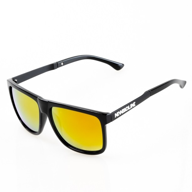 NEW BAD LINE OKULARY DODGER BLACK RUBBER RED MIRROR 20-135